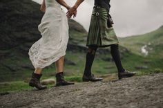 Laura and Damian decided to organize a traditional Scottish elopement with a hand fasting ceremony and Gaelic blessing on the Isle of Skye due to their Wedding Shoes, Wedding Blog, Wedding Dress, Gaelic Blessing, Tartan Wedding, Kilt Wedding, Wedding Tuxedos, Lesbian Wedding, Blue Wedding
