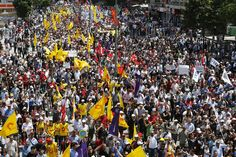 Anti-government protesters march during a demonstration in Ankara, on June 5, 2013. (Reuters/Umit Bektas)