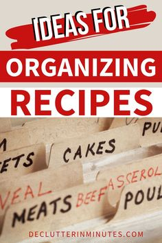 Do you Feel like you have a gazillion recipes but never any idea what to make for dinner? Maybe all that you need is an organized recipe system that you can set up today. Make mealtime fun again! #recipeorganization #organizerecipes #recipesystem #mealplanning