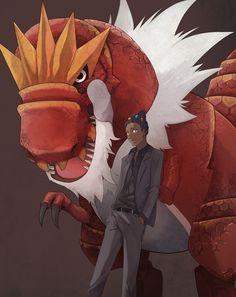 Gym Leader Grant with his Tyrantrum. #Pokemon #PokemonXY
