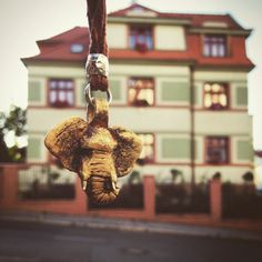Precious metal clay Bronz Clay elephant in Prague. Made by Sarahbellum in Chelan, WA. Photography by Kayla Good.
