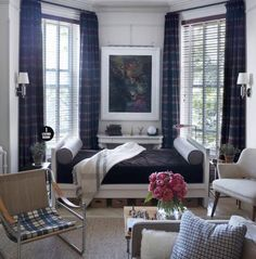 [Brooklynite Zach Motl IKEA hacked two Malm twin beds to make this crisp daybed featured in House Beautiful.]