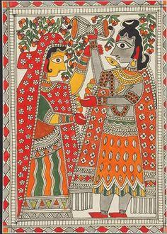 Indian Painting Styles...Madhubani/Mithila  Painting (Bihar)-m0002-2-.jpg