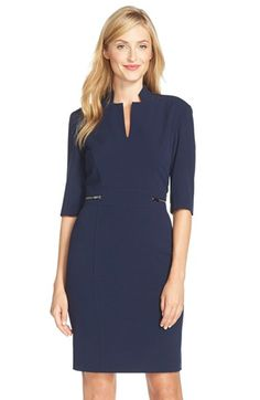 Free shipping and returns on Tahari Bi-Stretch Sheath Dress at Nordstrom.com. An inverted notch collar distinguishes the architectural tailoring of this zipper-accented sheath that's versatile enough for work, a night on the town and beyond.