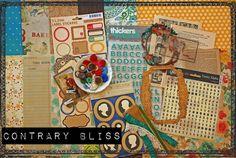 JuneKit:ContraryBliss, 2011    little black dress kit club 12x12 layout scrapbook