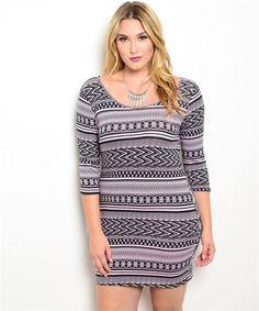 Aztec Goddess Dress (2 Colors)-Plus Size