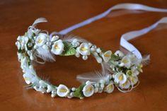 Wedding Headpiece Tiara made from Wax  Azahares  by CasaAraiza, $170.00