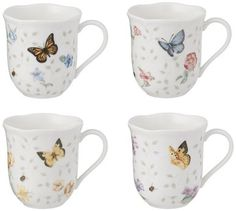 LENOX Butterfly Meadow Mug Set of 4 $34.95 FREE S & H (Elsewhere $45) SALVATORI'S - BEVERLY HILLS BUY HERE: http://www.shopsalvatori.com/lenox-butterfly-meadow-mug-set-of-4-34-95/