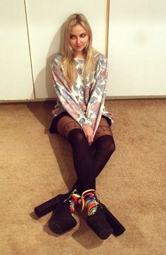 Guard The Vintage Floral Sweater, Unif Hellbounds, Asos Charm Stockings