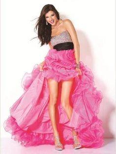 Imagenes de Vestidos de 15 Cortos con Cola coloridos