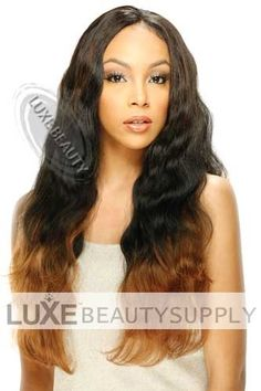 Shop Model Model Equal Synthetic Weaving Malaysian Bundle Wave 22 inch at Luxe Beauty Supply. Bangs Ponytail, Synthetic Hair Extensions, Half Wigs, Stylish Hair, Beauty Supply, Human Hair Wigs, Weave Hairstyles, Hair Pieces, Lace Front Wigs