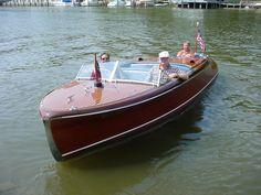 Chris Craft Boats   23' Chris-Craft barrel back wood boat