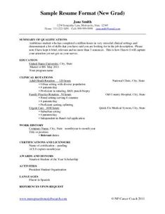 Example Student Nurse Resume - Free Sample | Nursing School