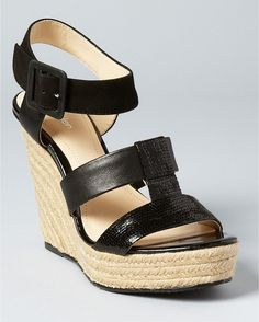 Calvin Klein Wedges Ellison Espadrille in Black. Have.