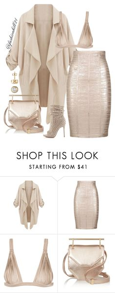 """""""Perfection"""" by fashionkill21 ❤ liked on Polyvore featuring WithChic, Hervé Léger, La Perla, M2Malletier and Christian Louboutin"""