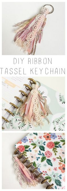 A moveable ribbon tassel keychain diy.