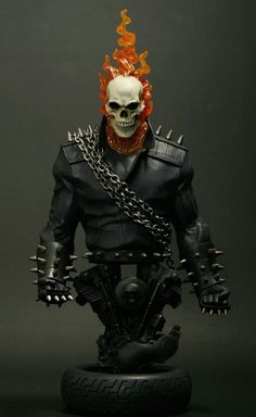 Ghost Rider Danny Ketch mini-bust  Sculpted by: Gabe Perna and Randy Bowen    Release Date: October 2009  Edition Size: 900  Order Of Release: Phase IV (bust #241)