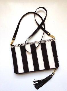 795cc8f6c67d Color Block Bag Clutch Purse Foldover Clutch Black and White Evening Bag  Rifle Paper Co Wonderland F