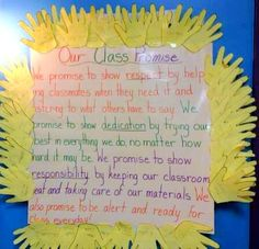 Class promise by Cynthia Sime's 2nd grade class (via @responsiveclass and @Cynthia Sime)