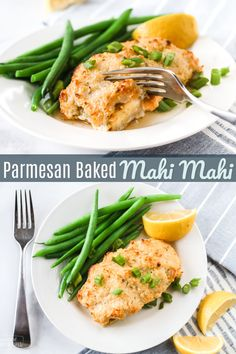 Parmesan Herb Baked Mahi Mahi is the perfect fish dish. Tender, flaky fish with a cheesy golden crust. The best baked mahi mahi recipe ever! #mahimahi #fish #fishrecipe #fishdinner #bakedfish #bakedmahimahi #parmesan