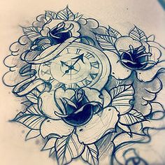 Sketch For Tomorrows Tattoo Clock