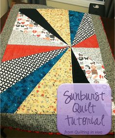 Sunburst Quilt tutorial from Quilting in vivo