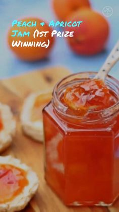 Peach & Apricot Jam is a delicious no pectin recipe. Perfect for breakfast, I'm sure you'll love this jam! #apricotjam #apricotrecipes #peachandapricotrecipes #peachandapricotjam #peachrecipes #nopectin #nopectinjamrecipes #peachcanningrecipes #apricotcanningrecipes #apricot #peach #jam