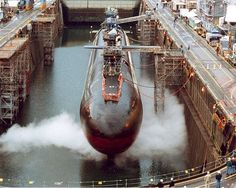 Puget Sound Naval Shipyard, Wash. (Aug. 14, 2003) -- USS Ohio (SSGN 726) is in dry dock undergoing a conversion from a Ballistic Missile Submarine (SSBN) to a Guided Missile Submarine (SSGN) designation.