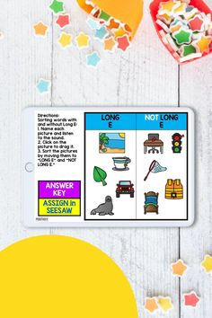 Interactive Seesaw Sorts makes it really easy to see how students are HEARING and understanding long vowel sounds. Add these to your small groups and centers at home and school.