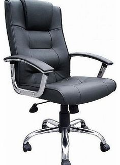 Office Furniture Online Melbourne High Back Black Leather Faced Executive Office Chair Stylish and comfortable black leather faced manager chair with chrome base and padded arms. (Barcode EAN = 5053531000631). http://www.comparestoreprices.co.uk/leather-office-chairs/office-furniture-online-melbourne-high-back-black-leather-faced-executive-office-chair.asp