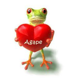 Agape, word for love.
