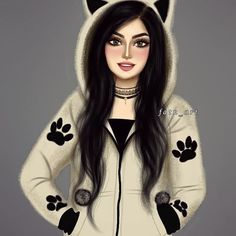 Photos Of Cats Refferal: 7342260747 Girly M, Beautiful Girl Drawing, Cute Girl Drawing, Cartoon Girl Images, Cute Cartoon Girl, Best Friend Drawings, Girly Drawings, Sarra Art, Lovely Girl Image