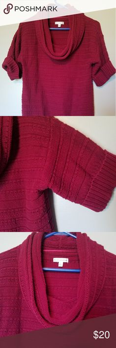 Croft & Barrow Women's Sweater Croft & Barrow Women's Sweater, Size small. 3/4 length arms. Great condition, perfect for any occasion. No flaws. Soft. Maroon color. croft & barrow Sweaters Crew & Scoop Necks