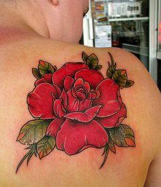big flower tattoo Roses Tattoos for Women Design Ideas