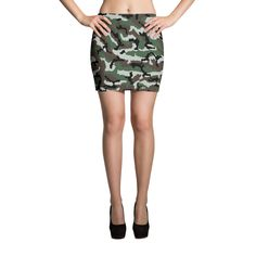 French Central Europe CAMO Mini Skirts
