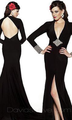 A-Line V-neck Floor Chiffon Prom Dress