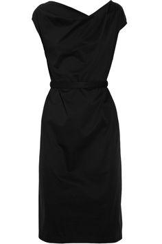Jil Sander belted stretch-cotton dress