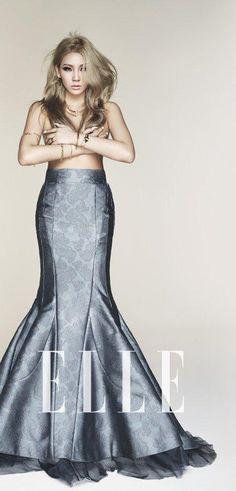 2NE1's very own Lee Chaerin for ELLE Korea #CL