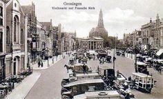 Vismarkt Groningen (jaartal: 1920 tot 1930) - Foto's SERC My Images, Big Ben, Paris Skyline, Holland, Past, Street View, City, Building, Places