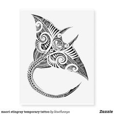 Shop maori stingray temporary tattoo created by kiwifunnys. Personalize it with photos & text or purchase as is! Tribal Tattoos, Tattoos Skull, Cute Tattoos, Maori Tattoos, Geometric Tattoos, Hand Tattoos, Buddha Tattoos, Ocean Tattoos, Borneo Tattoos