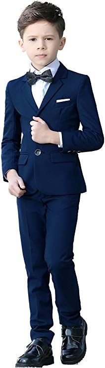 YuanLu Boys Colorful Formal Suits 5 Piece Slim Fit Dresswear Suit Set (Blue, Clothing Get this cute children outfits for your adorable baby Suits 5, Kids Suits, Formal Suits, Plaid Suit, Suit Vest, Boys Wedding Suits, Baby Boy Outfits, Children Outfits, Trendy Baby Clothes