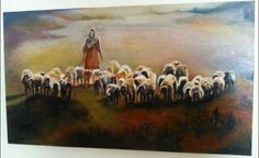 Sheep oil on canvas-available Sheep, Oil On Canvas, Painting, Art, Craft Art, Painted Canvas, Paintings, Kunst, Oil Paintings