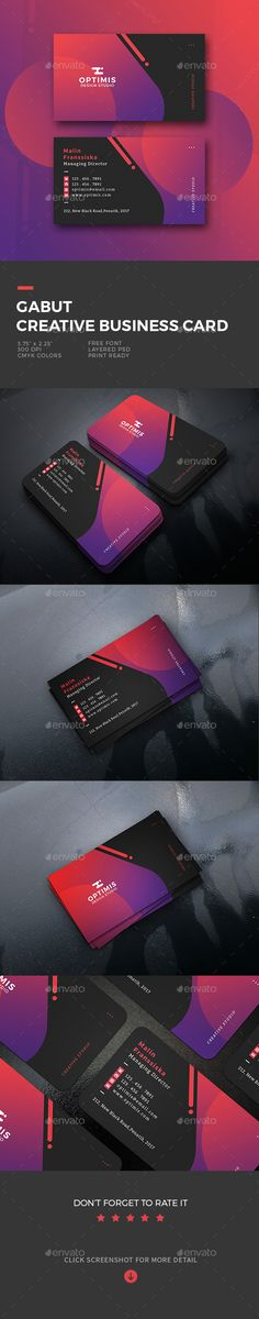 Gabut Creative Business Card - Business Cards Print Templates