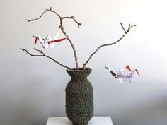 Origami Cranes custom created from Edson Chagas 'Found Not Taken' Print