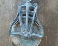 Barn pulley by rustandstuffreloved on Etsy
