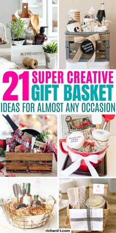 21 Genius DIY gift basket ideas your friends and family will love! These DIY gif. 21 Genius DIY gift basket ideas your friends and family will love! These DIY gift baskets are perfe Get Well Gift Baskets, Family Gift Baskets, Thank You Gift Baskets, Cookie Gift Baskets, Diy Gift Baskets, Christmas Gift Baskets, Get Well Gifts, Diy Christmas Gifts, Unique Gift Basket Ideas