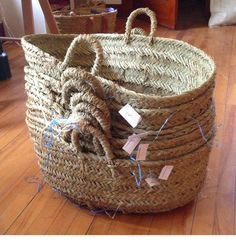 Baskets at Ancient Industries store West Cornwall CT.looks like a real cool store! Scripture Crafts, Rustic Baskets, West Cornwall, Room Of One's Own, Cool Store, Basket Bag, Basket Decoration, Diy Crafts For Kids, Interior Inspiration