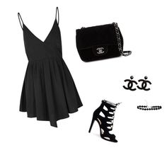 """Beautiful in Black"" by breyster ❤ liked on Polyvore featuring beauty, Glamorous and Chanel"