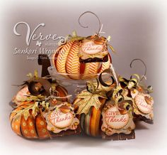 Designed by Sankari Wegman- Is this a gorgeous group of pumpkins, or what?