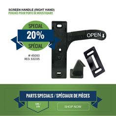 Popular screen door entrance handle includes mounting hardware, release catch, strike plate and handle. Delivery and curbside pickup available.   #supportlocalbusiness #shoplocal Support Local Business, Entrance, Rv, Delivery, Plate, Handle, Hardware, Popular, Entryway